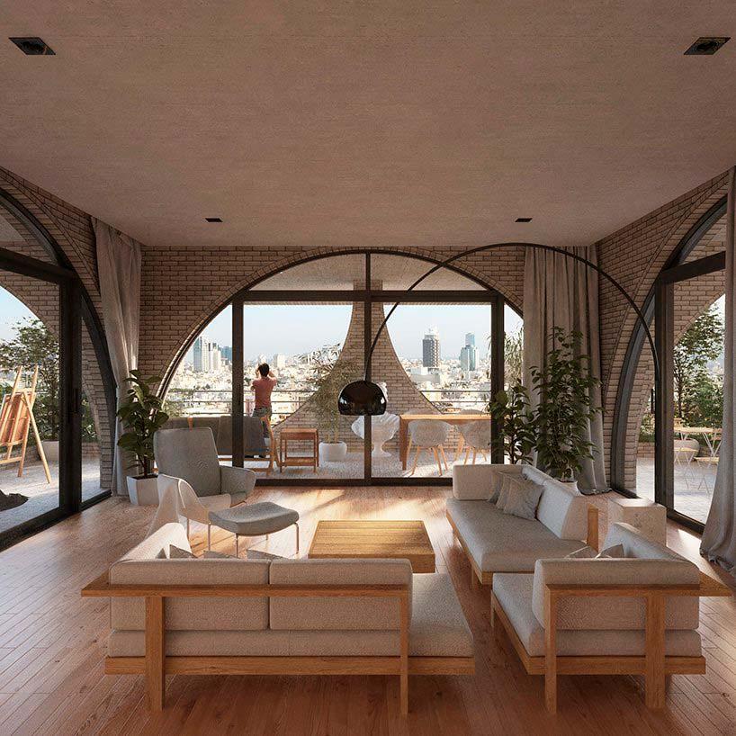 Дизайн интерьера квартиры в башне Tel Aviv Arcades