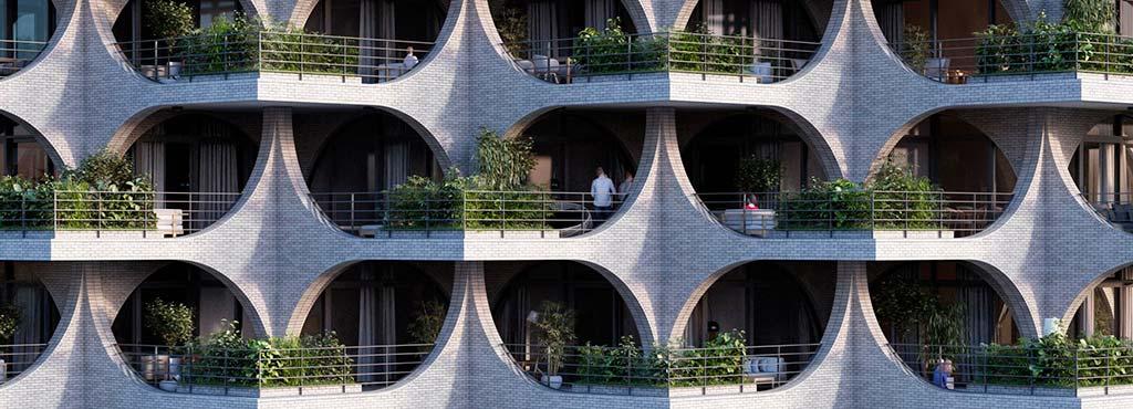 Каскадные террасы небоскреба Tel Aviv Arcades