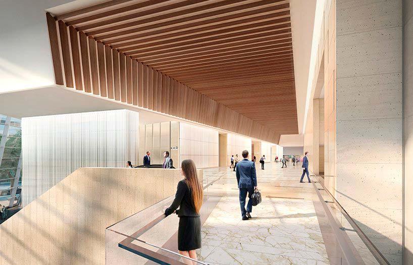 Дизайн интерьера башни 30 Hudson Yards от KPF