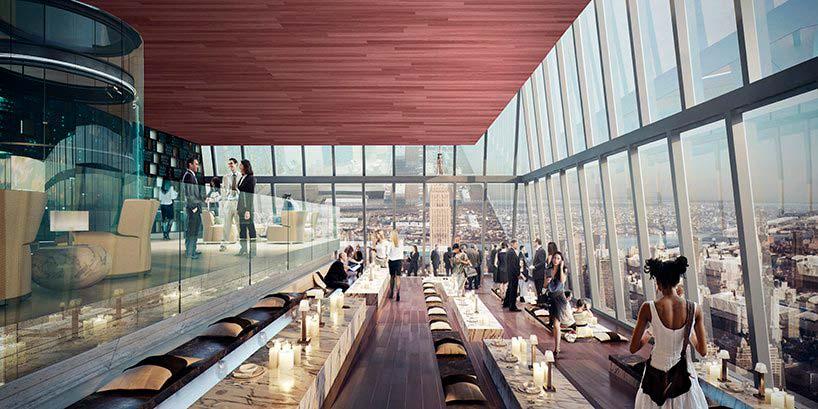 Ресторан на 101-ом этаже башни 30 Hudson Yards