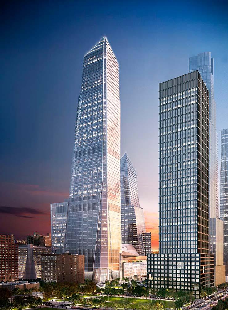 Небоскреб 30 Hudson Yards на Манхэттене высотой 395 метров