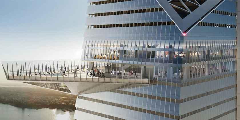Башня 30 Hudson Yards в Нью-Йорке достигла пиковой высоты