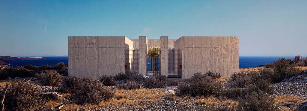 Дом дуплекс на две семьи в Греции. Дизайн Kapsimalis