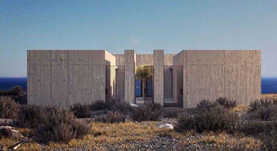 Дом на скале у моря в Греции от студии Kapsimalis | фото