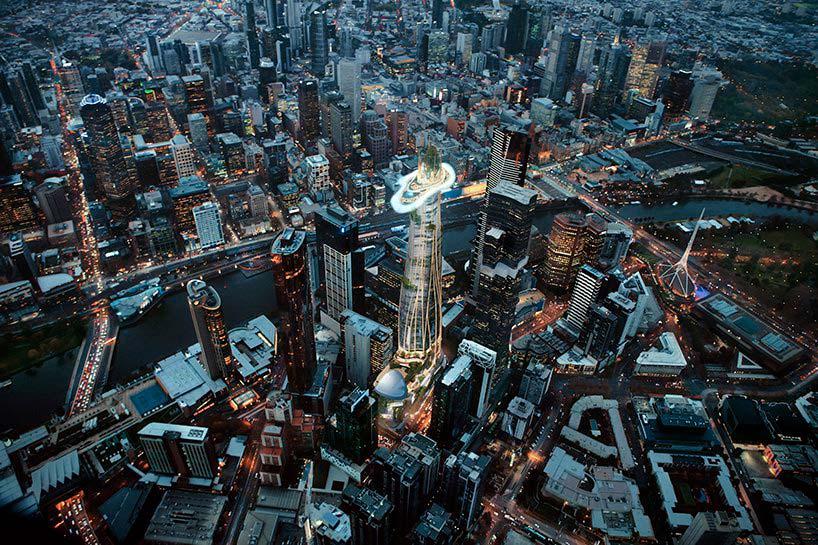 Небоскреб высотой 360 метров от MAD Architecture