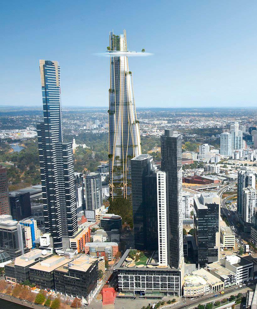 Башня с облаком в Мельбурне. Проект MAD Architecture