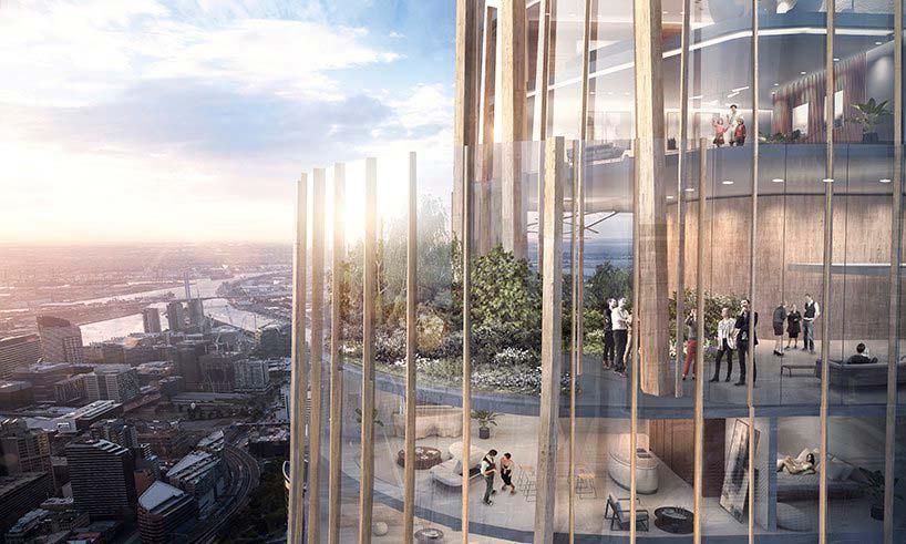 Отделка фасада небоскреба в Мельбурне от MAD Architecture