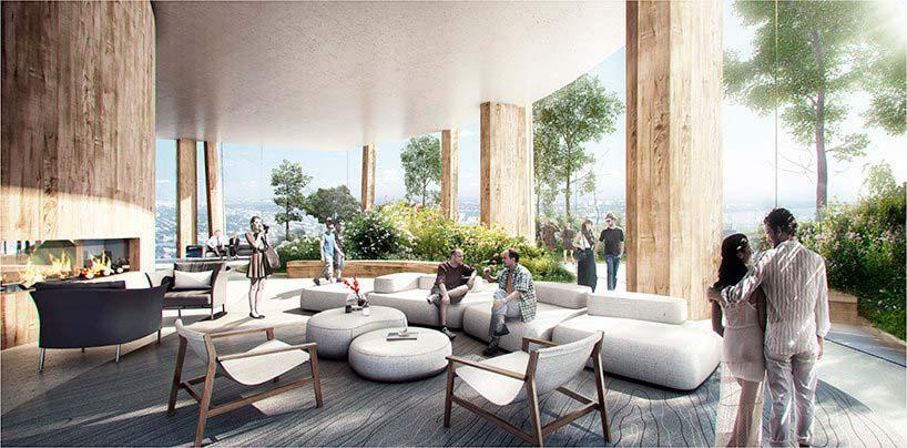 Дизайн интерьера небоскреба в Мельбурне от MAD Architecture
