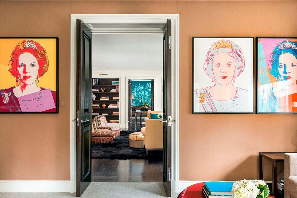 Произведения искусства в интерьере квартиры