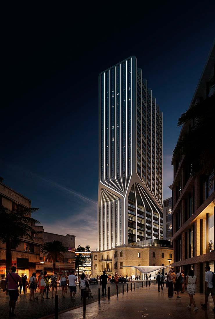 Небоскреб на Мальте Mercury Tower. Проект ZHA