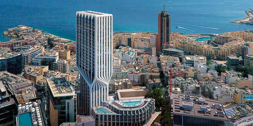 Бюро ZHA построит небоскреб Mercury Tower на Мальте | фото