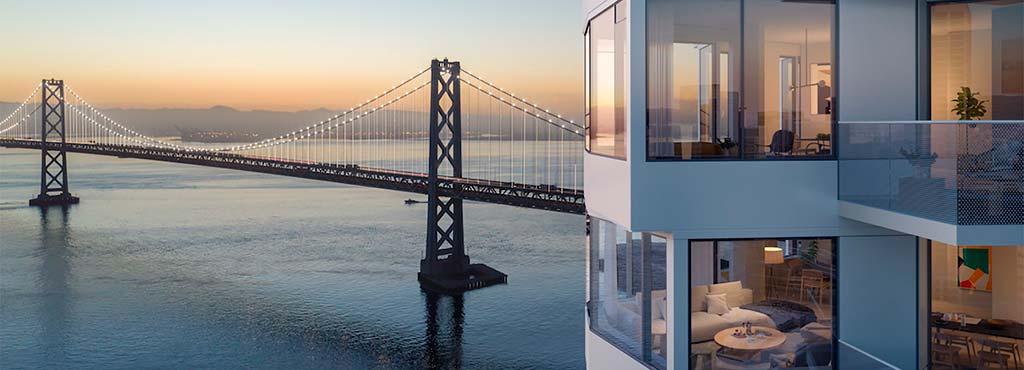 Небоскреб MIRA с видом на залив Сан-Франциско от Studio Gang