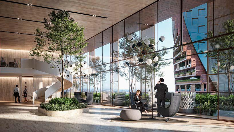 Офисные помещения небоскреба в Мельбурне. Проект UNStudio