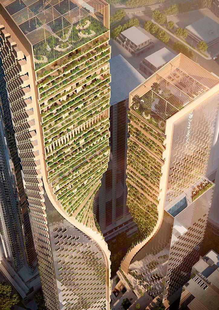 Два небоскреба в Мельбурне, Австралия. Проект UNStudio