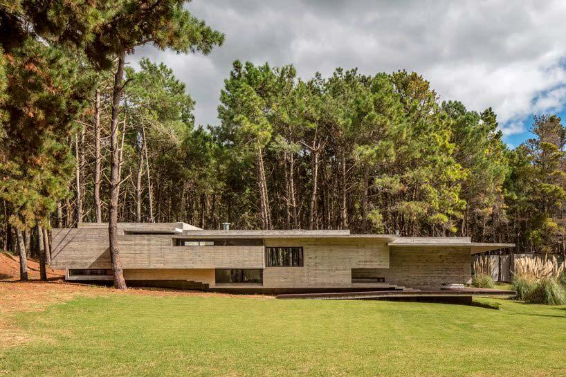 Лесной дом из бетона близ Буэнос-Айреса