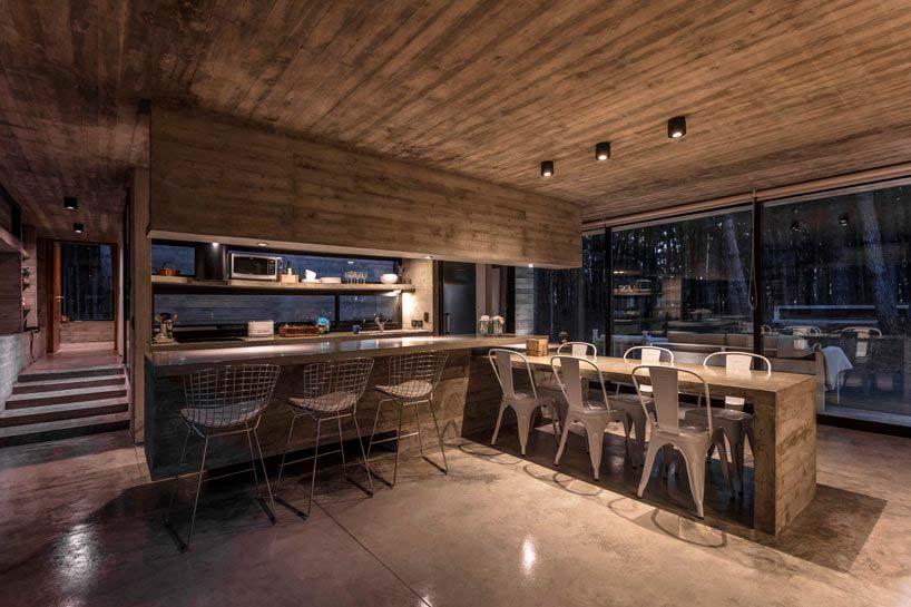 Бетон в дизайне кухни