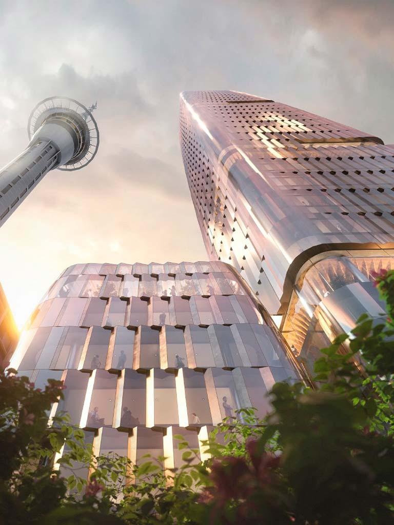 Sky Tower и 180-метровая башня от Woods Bagot