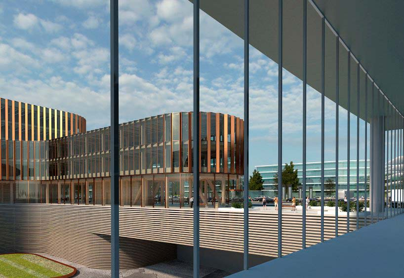 Бизнес-центр площадью 40 000 кв. м. в аэропорту Люксембурга