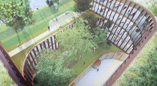 План бизнес-центра в аэропорту Люксембурга от BIG | фото