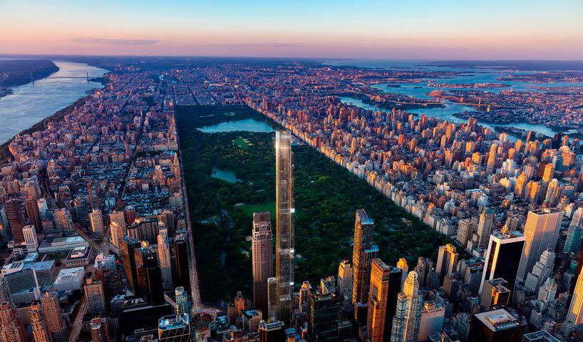 Central Park Tower в Нью-Йорке. Башня высотой 472 метра
