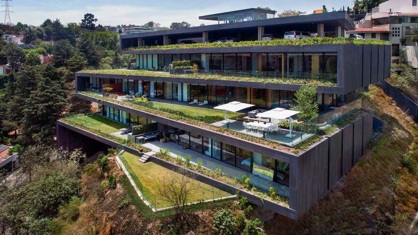 Многоквартирный дом в холме в Мехико
