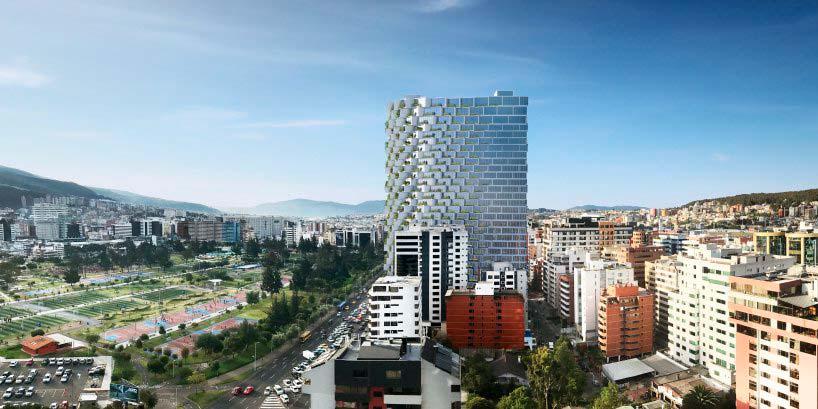 Башня IQON в Кито, Эквадор. Проект BIG