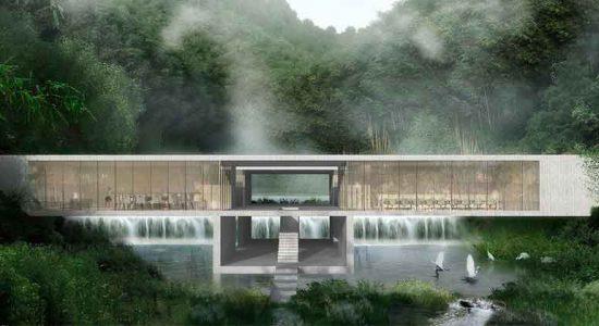 CLOU интегрирует курорт в ландшафт китайских гор | фото