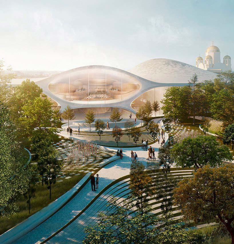 Дизайн здания основан на свойствах звукового резонанса