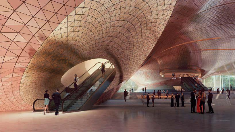 Фойе Концертного зала Сведловской филармонии от Zaha Hadid