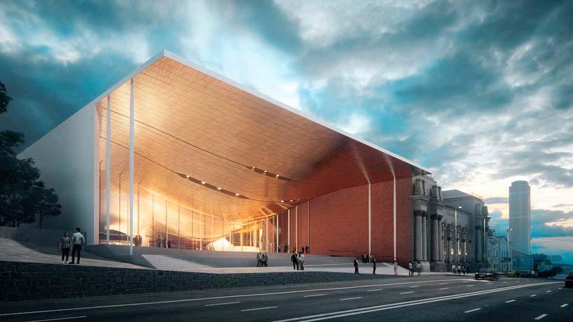 Комплекс Концертного зала Сведловской филармонии от Zaha Hadid