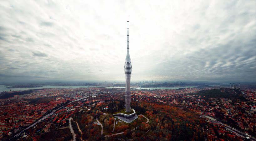 Телебашня в Стамбуле высотой 369 метров от MAAlab