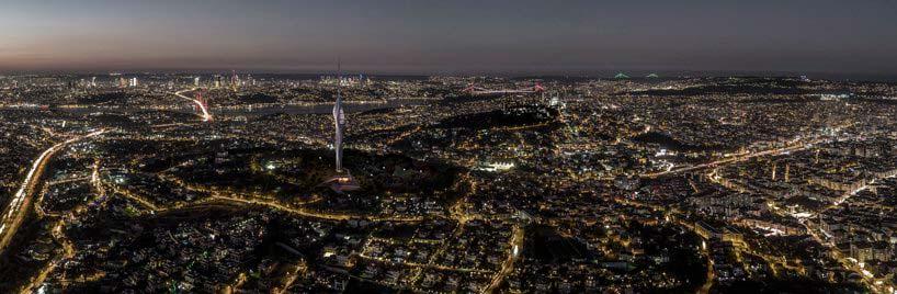 Телекоммуникационная башня Istanbul Çamlıca - символ Стамбула