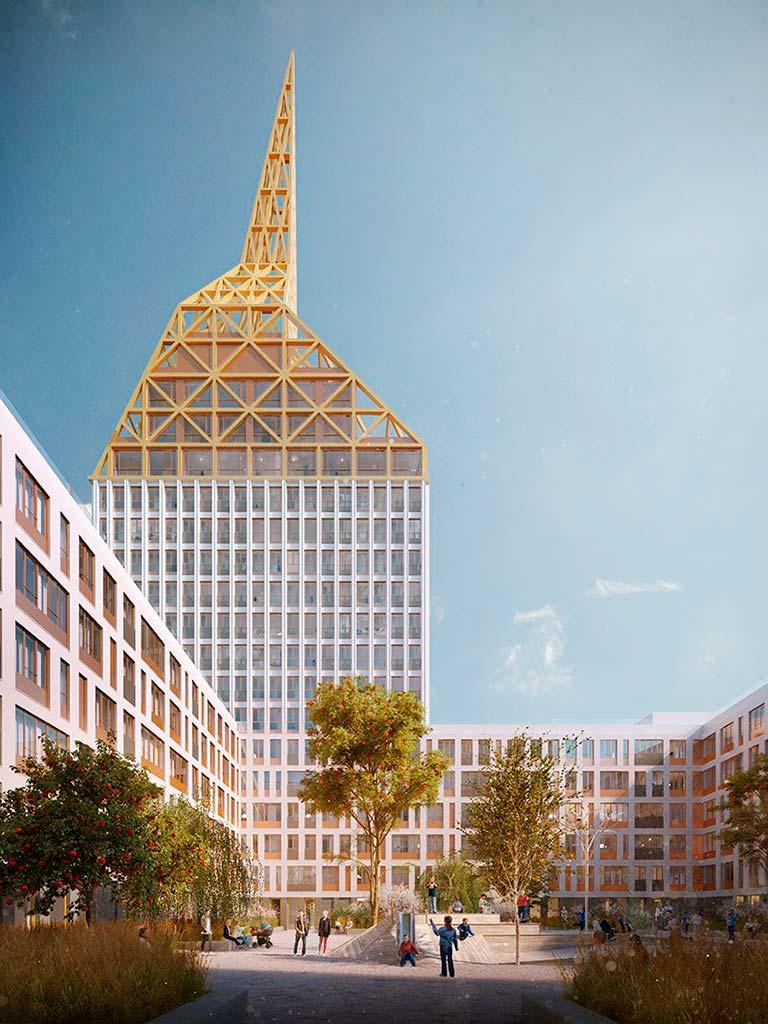 Башня со шпилем The Golden City от KCAP& Orange в Петербурге