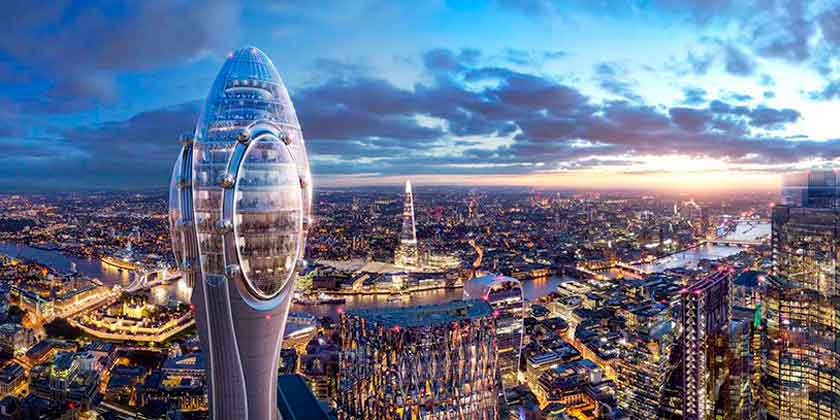Норман Фостер показал небоскреб-аттракцион «Тюльпан»