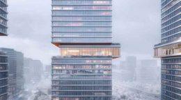 KPF построит три офисные башни Huamu Lot 10 в Шанхае | фото