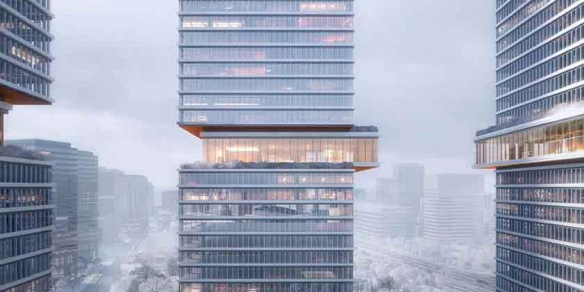 KPF построит три офисные башни Huamu Lot 10 в Шанхае