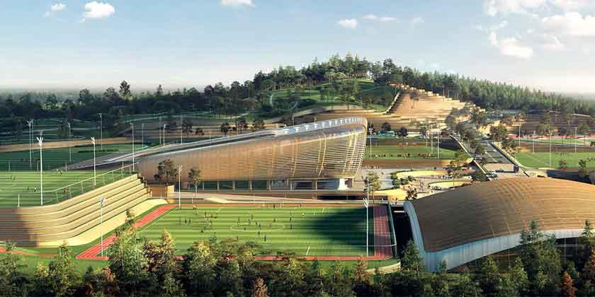 UNStudio представила проект футбольного стадиона для Сеула | фото