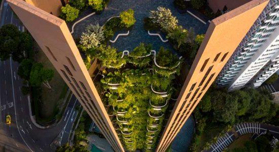 В Сингапуре построен небоскрёб-сад Eden в 22 этажа | фото