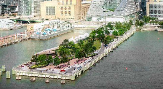 На Гудзоне в Нью-Йорке построят парк Pier 97 | фото