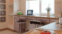 Подоконник и столешница на кухню в одном стиле: это реально
