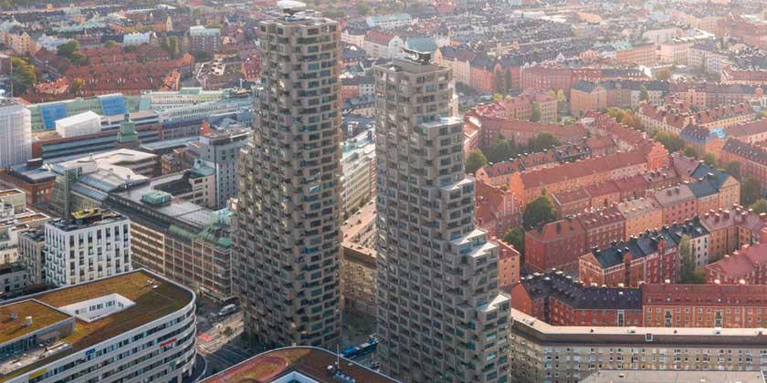 OMA построила башни-близнецы Norra Tornen в Стокгольме | фото