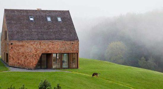 Кедровый дом в Литве по проекту Arches | фото