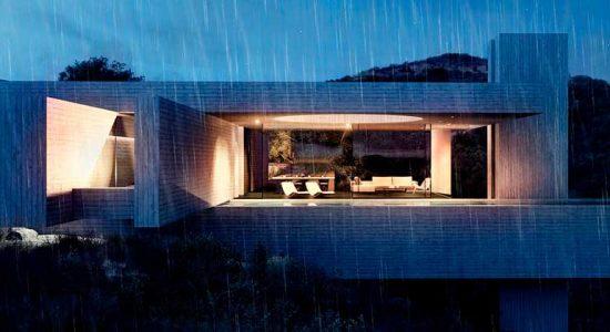 Геометрический дом из бетона на острове Корфу в Греции | фото