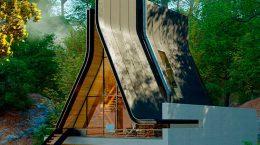 Нетипичный А-образный дом по проекту Shomali Design | фото
