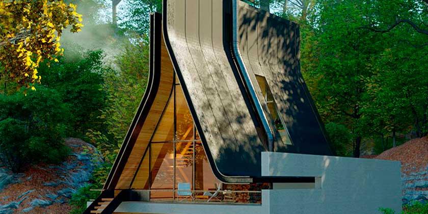 Нетипичный А-образный дом по проекту Shomali Design Studio