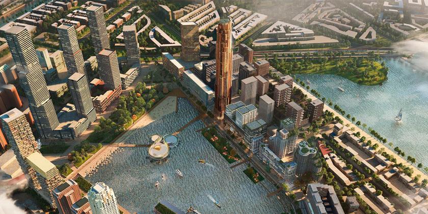 В Роттердаме построят новый деловой район с небоскрёбом | фото