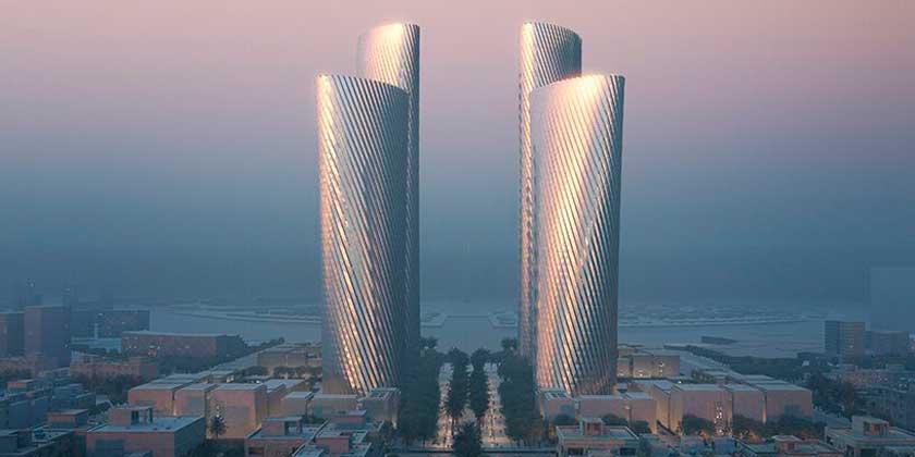Бюро Фостера построит 4 алюминиевых небоскрёба в Катаре | фото