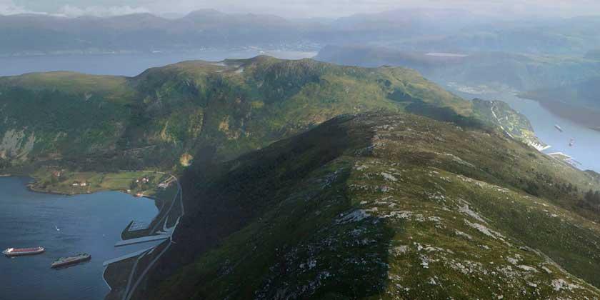 Первый в мире туннель для кораблей начали строить в Норвегии 🚢