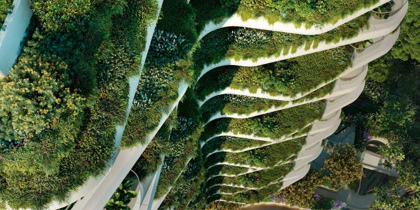 Многоквартирная башня Park Nova с садами от PLP Architecture