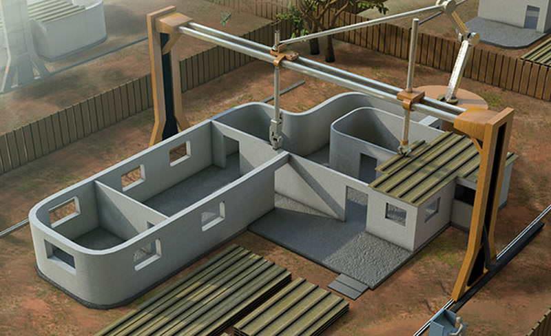 В Китае начали печатать дома на гигантском 3D-принтере